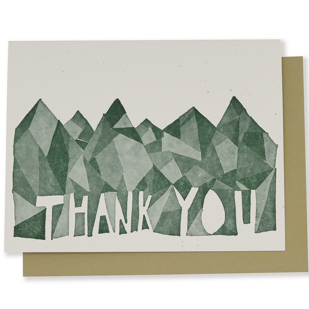 Mountain Thank You Greeting Cards