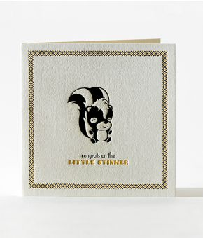 Little Stinker Letterpress Card