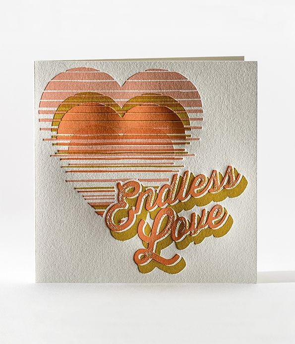 Endless Love Sunset Letterpress Card
