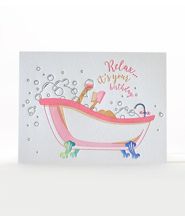 Bubbly Birthday Letterpress Card