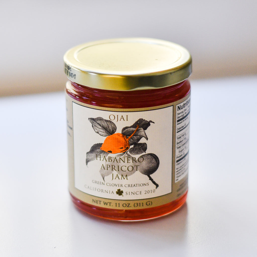 Habanero Apricot Jam Spreads and Preserves - Green Clover Creations, The Santa Barbara Company