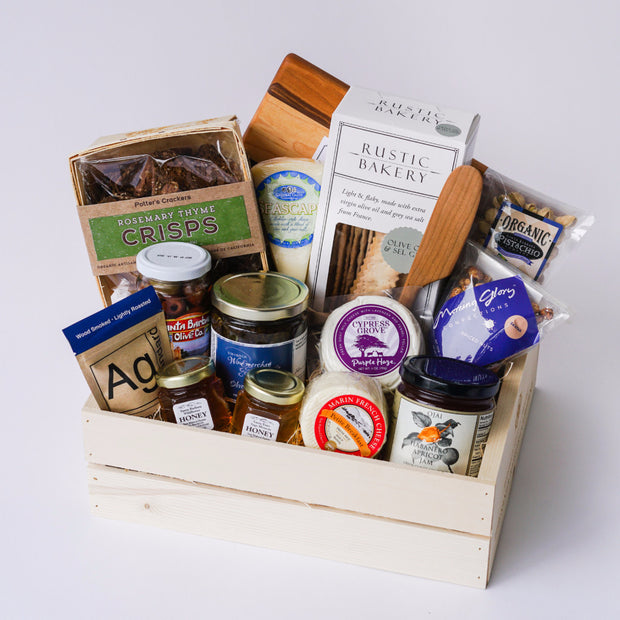 Abundant Appetizers Gift Box Local Delivery Gifts - Assorted/Gifts, The Santa Barbara Company