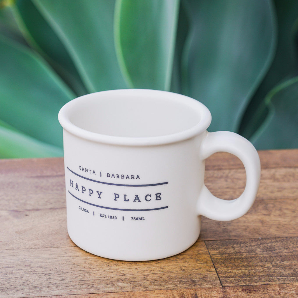 Happy Place Santa Barbara Mug Ceramics - Mercantile 12, The Santa Barbara Company - 1