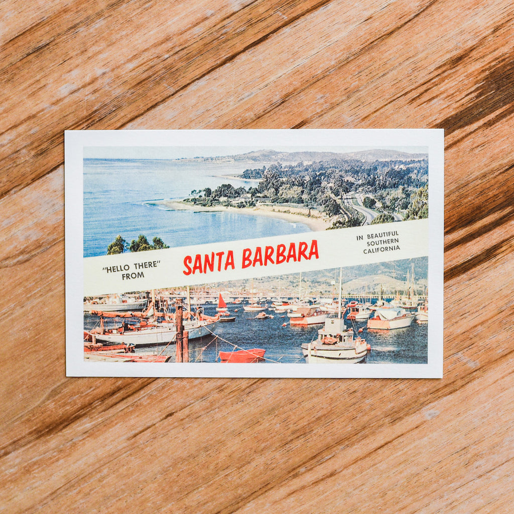 Hello from Santa Barbara Postcard Postcards - Found Image, The Santa Barbara Company
