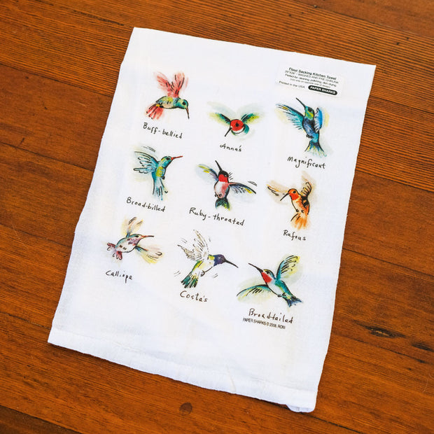 Hummingbirds Flour Sack Towel Kitchen Towels - Papersharks, The Santa Barbara Company - 1