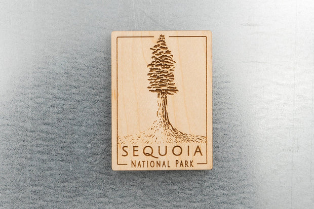 Sequoia National Park Wood Magnet