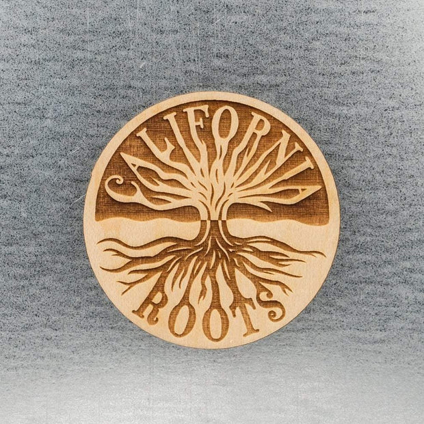 California Roots Wood Magnet