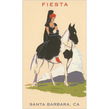Lady of Fiesta Print Santa Barbara Prints - Found Image, The Santa Barbara Company