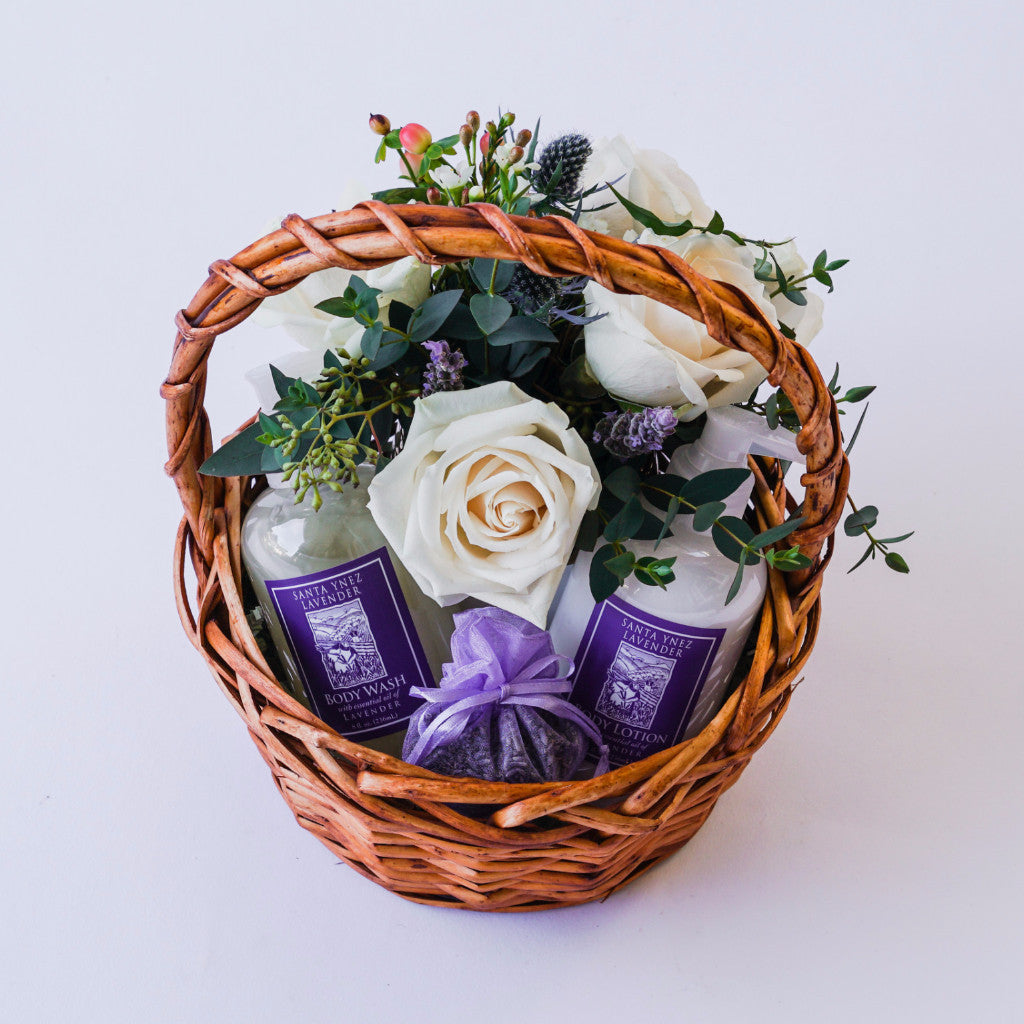 Luxurious Lavender Gift with Flowers Floral Gifts - The Santa Barbara Company Floral Gifts, The Santa Barbara Company