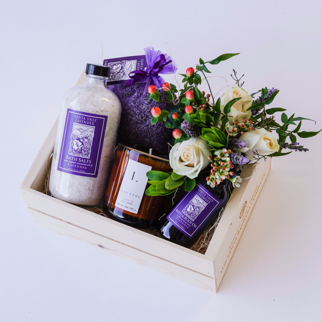Lavender Garden Gift Basket Gift Sets and Boxes - Assorted/Gifts, The Santa Barbara Company