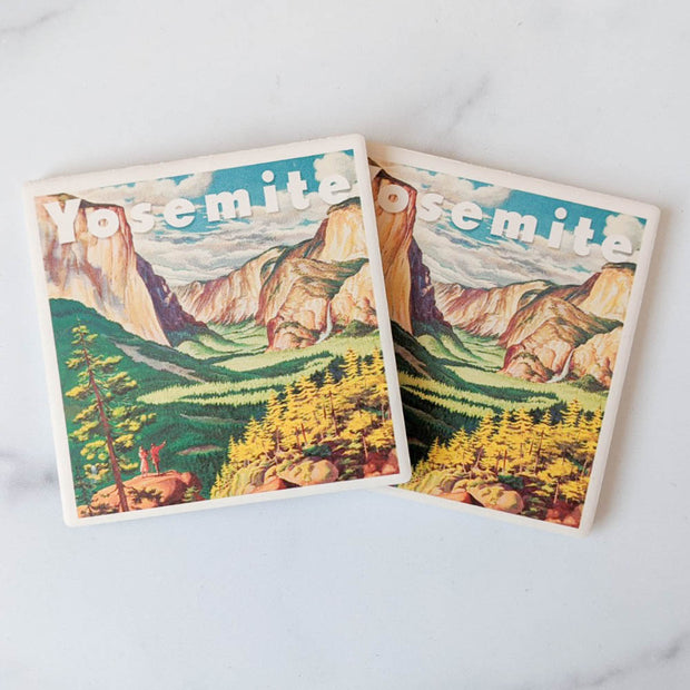 Yosemite Travel Poster Coasters