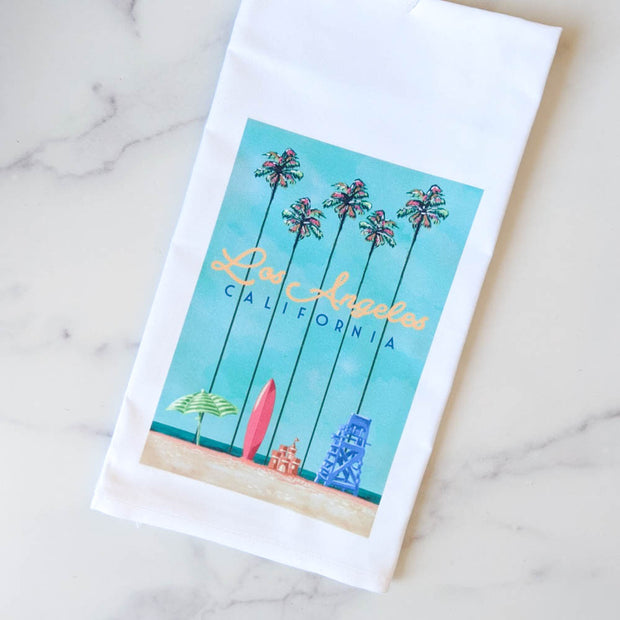 Los Angeles Palms Kitchen Towel