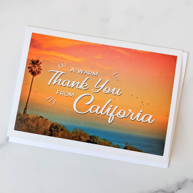 A Warm Thank You from California Note Card