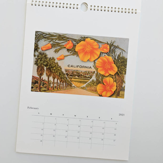 California Vintage Wall Calendar 2021