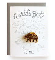 Mama Bear Pin Note Card