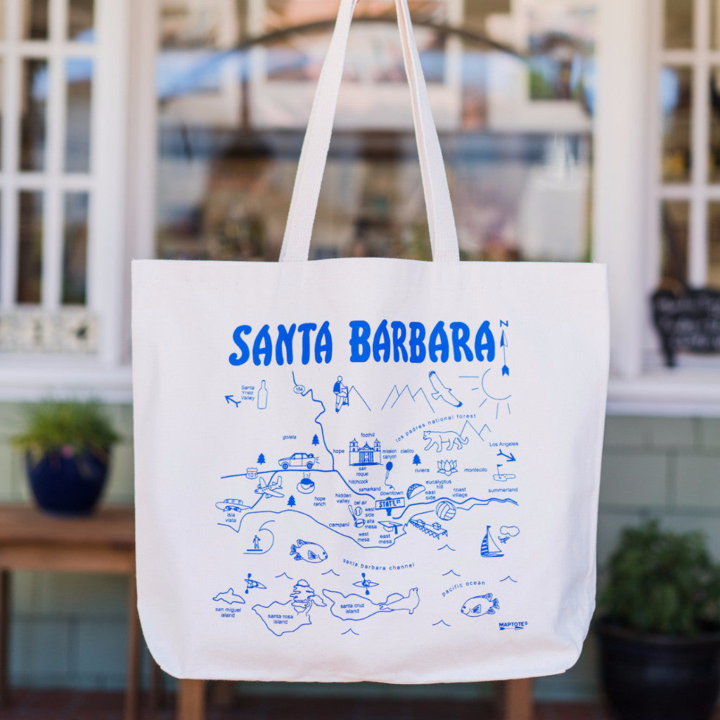Santa Barbara Map Bag - Large Totes - The Santa Barbara Company, The Santa Barbara Company - 1