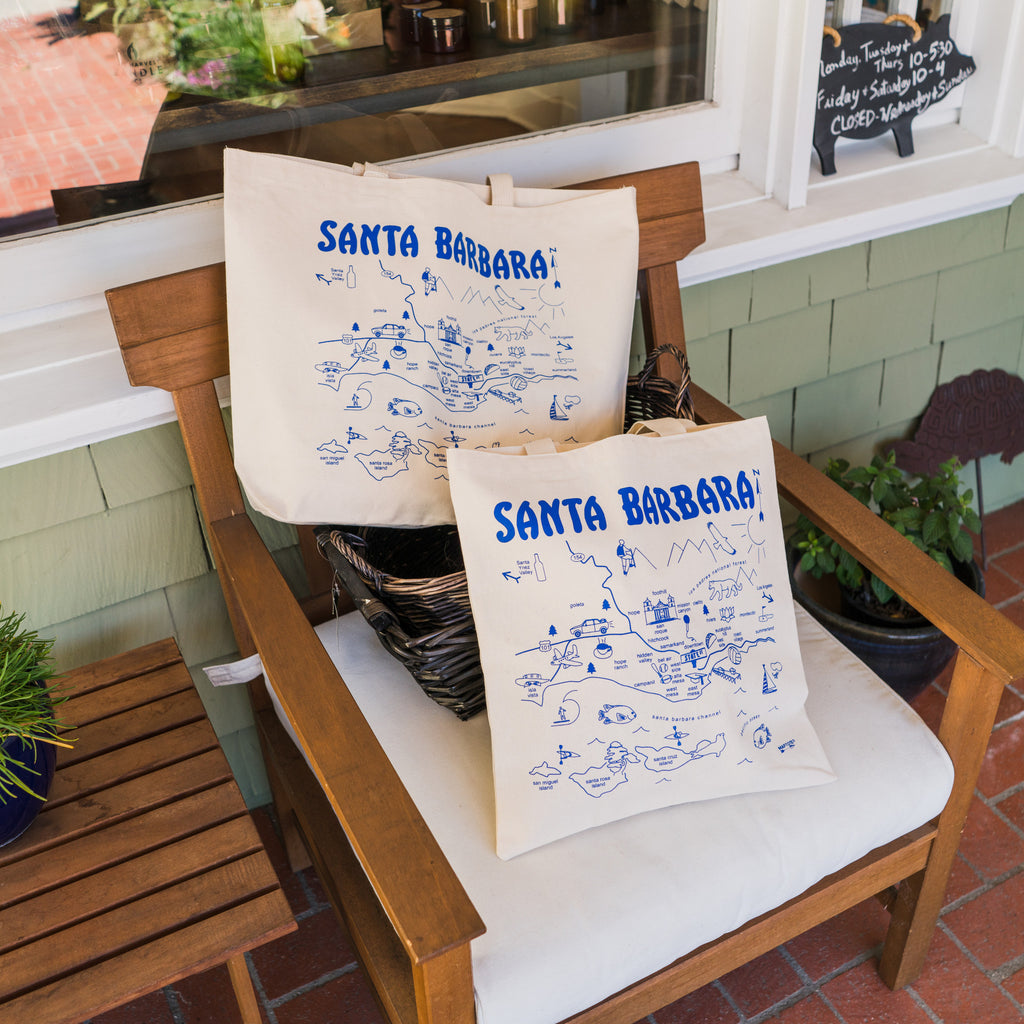 Santa Barbara Map Tote Totes - The Santa Barbara Company, The Santa Barbara Company - 2