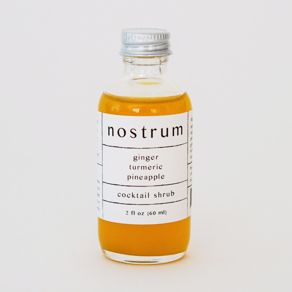Ginger Pineapple Turmeric Shrub Drinks - Nostrum, The Santa Barbara Company