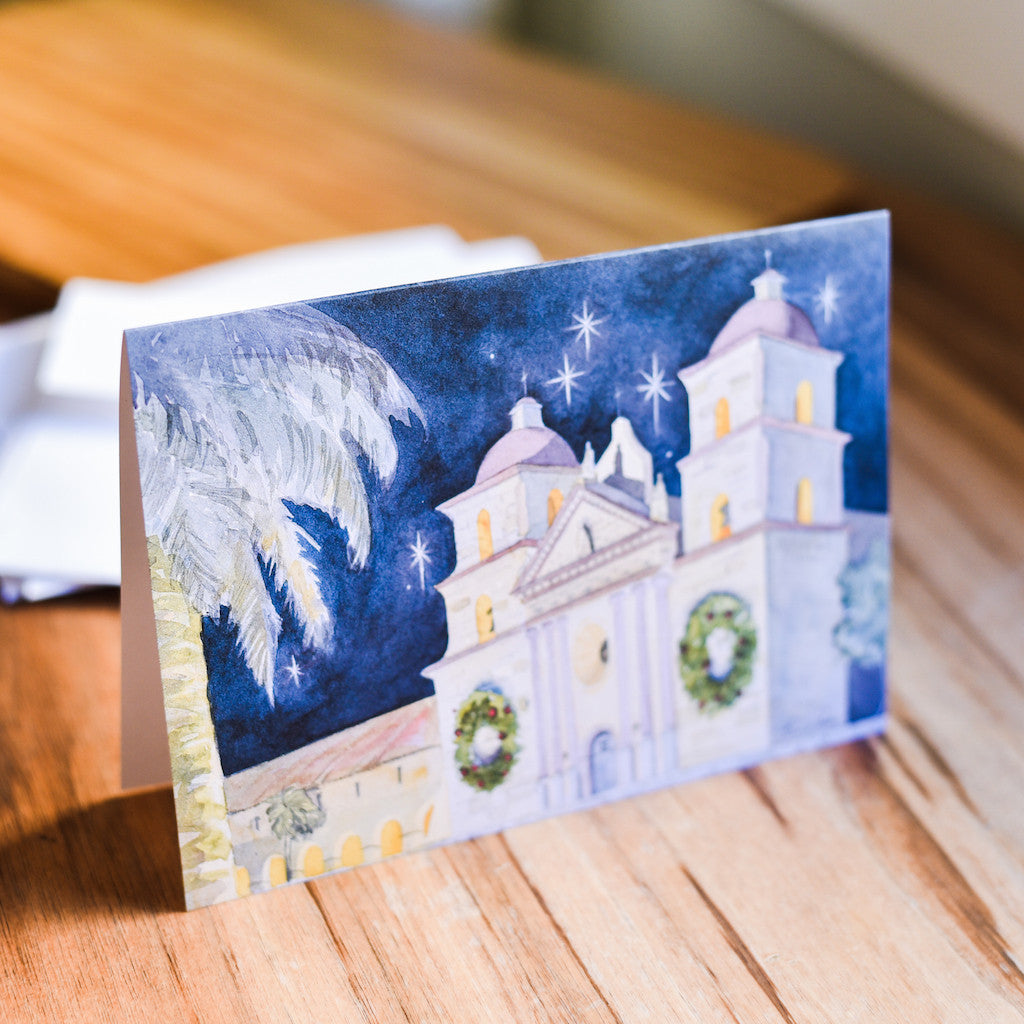 Santa Barbara Mission Christmas Cards Christmas/Holidays - Paperstar, The Santa Barbara Company