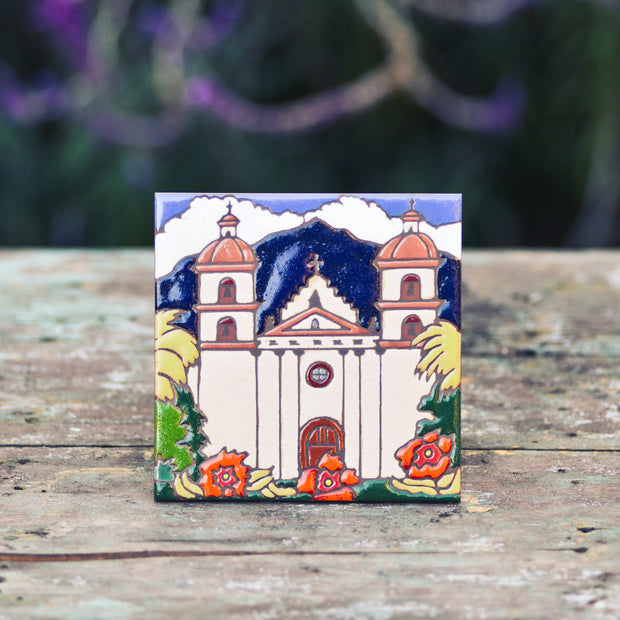 Santa Barbara Mission Tile Trivet Coasters & Trivets - Pacific Blue Tile, The Santa Barbara Company - 1