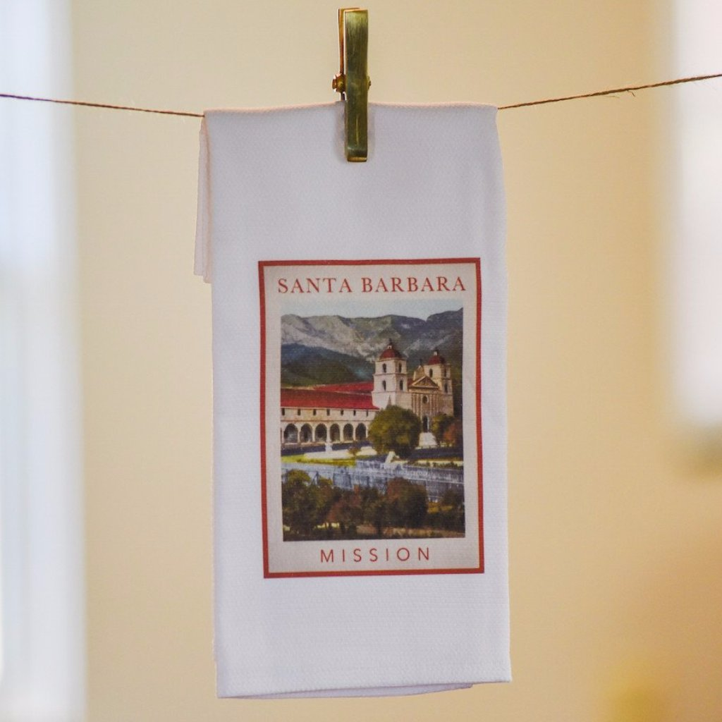Old Mission Santa Barbara Kitchen Towel Kitchen Towels - Pacific Swell Designs, The Santa Barbara Company