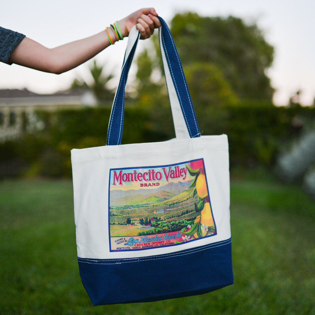 Montecito Valley California Citrus Tote Totes - California Citrus Company, The Santa Barbara Company