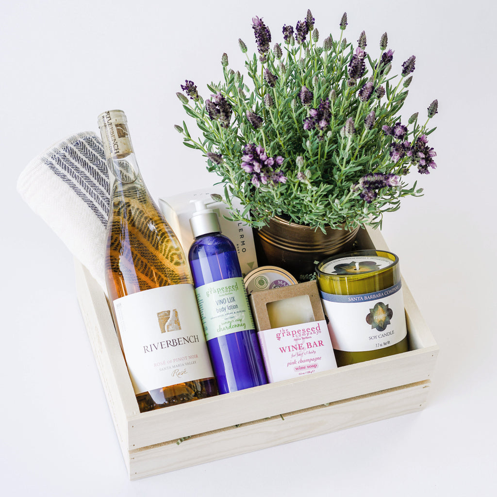 Rosé Spa Gift Box with Lavender Plant