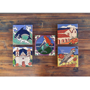 Santa Barbara Mission Tile Trivet Coasters & Trivets - Pacific Blue Tile, The Santa Barbara Company - 2