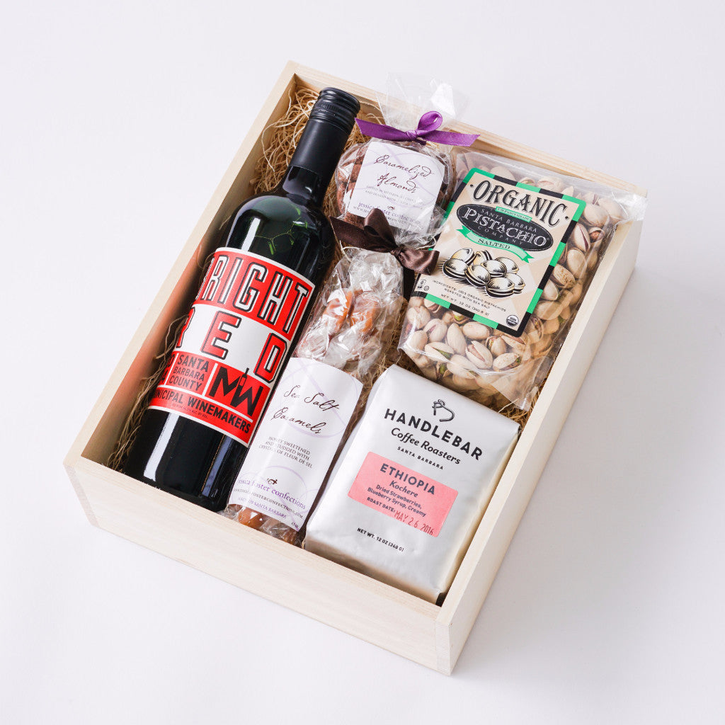 Muni Bright Red Santa Barbara Wine Gift Box