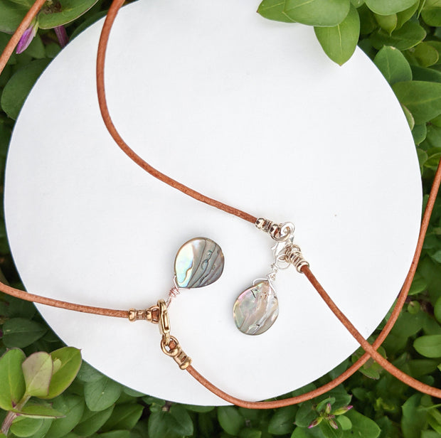 Silver Abalone Necklace