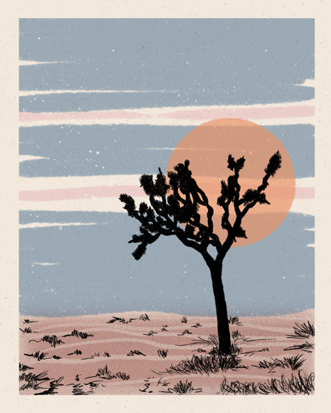 Northstar Joshua Tree Walker Noble Print