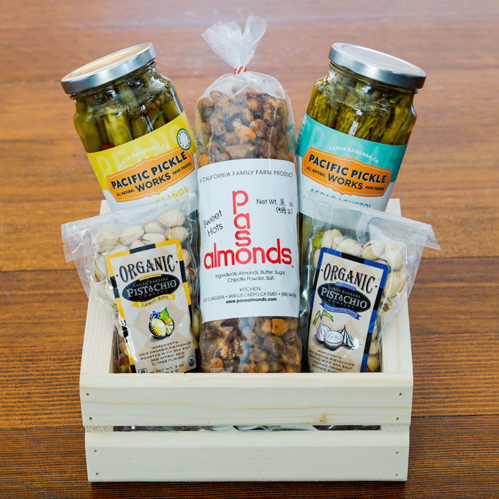 Pickles and Nuts Gift Basket | The Santa Barbara Company