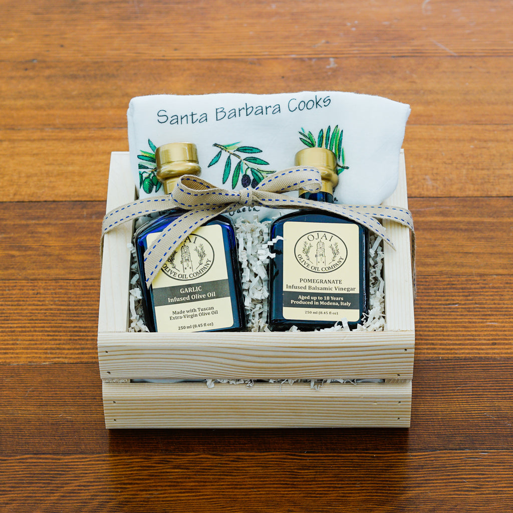 Gourmet Ojai Olive Oil Gift Crate Gift Sets and Boxes - Ojai Olive Oil, The Santa Barbara Company - 1