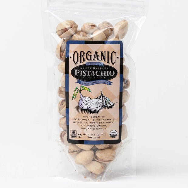 Onion Garlic Santa Barbara Organic Pistachios - 3 oz