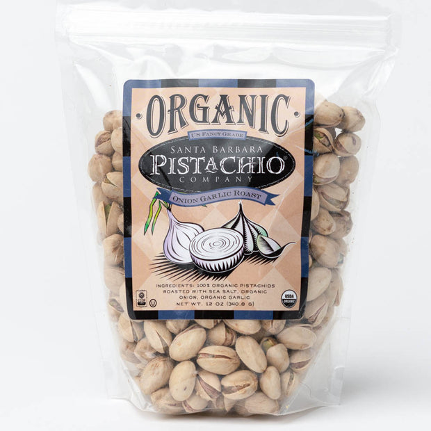 Onion Garlic Santa Barbara Organic Pistachios - 12 oz