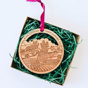 Wine Country Santa Barbara Wood Ornament