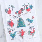 Christmas Rooster Flour Sack Towel