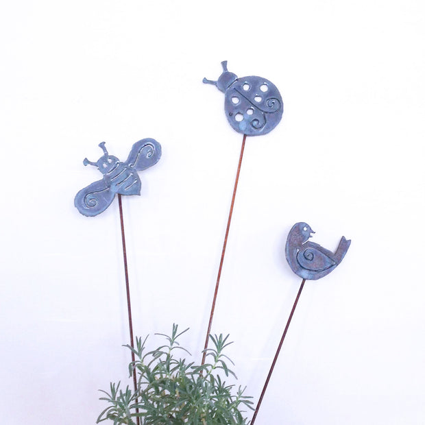 Bird and Bees Garden Stakes Sold Out - Barbs Art Metal, The Santa Barbara Company - 1