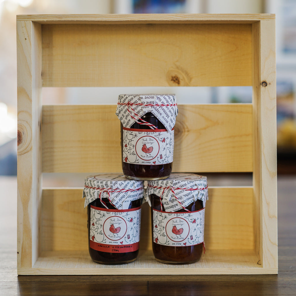 Apricot Vanilla Jam Spreads and Preserves - Red Hen Cannery, The Santa Barbara Company - 2