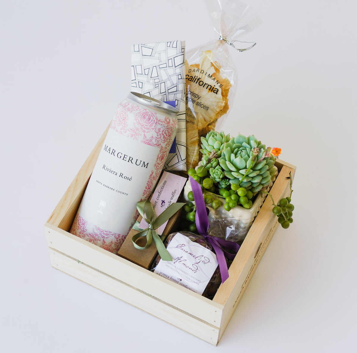 Margerum Rosé Gift Box with Succulent Plant | Hand Delivery in Santa ...