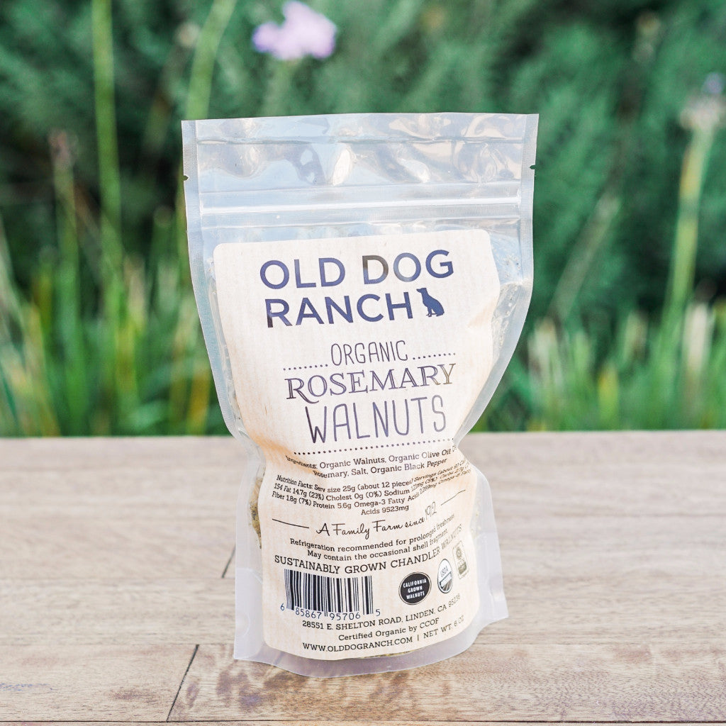 Rosemary California Walnuts Snacks and Candies - Old Dog Ranch, The Santa Barbara Company
