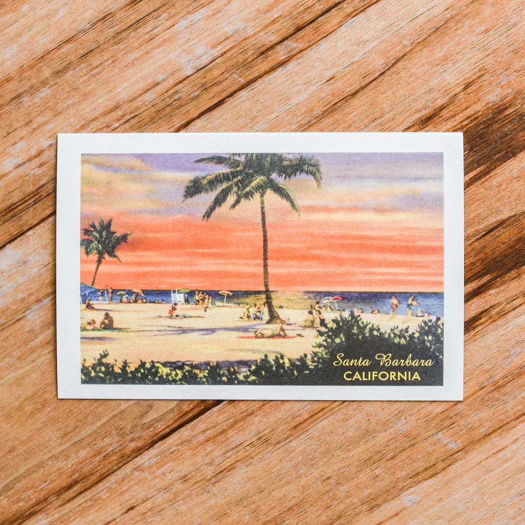 Santa Barbara Beach Postcard Postcards - Found Image, The Santa Barbara Company