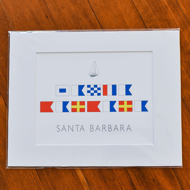 Santa Barbara Nautical Flags Print Art & Photography - The Santa Barbara Company, The Santa Barbara Company