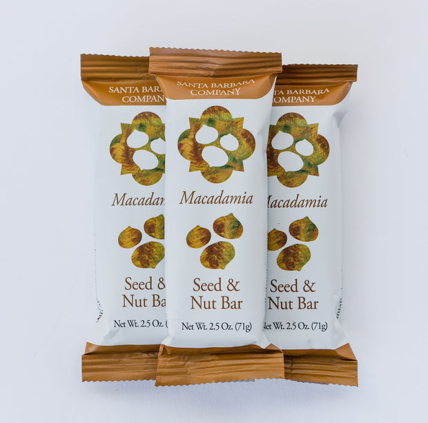 Macadamia Seed and Nut Bars - Box of 12
