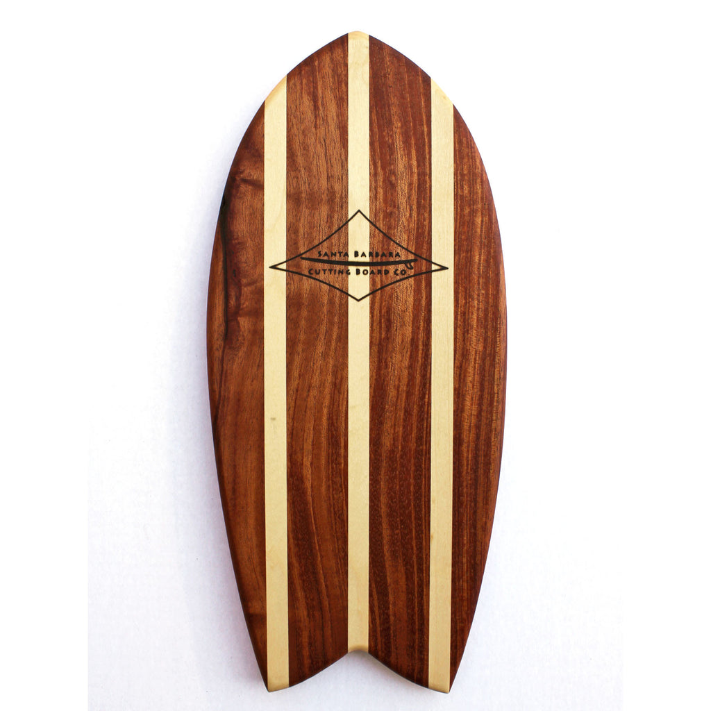 Small Fish Surf Cutting Board in Mahogany Cutting Boards - Santa Barbara Cutting Board Company, The Santa Barbara Company - 1