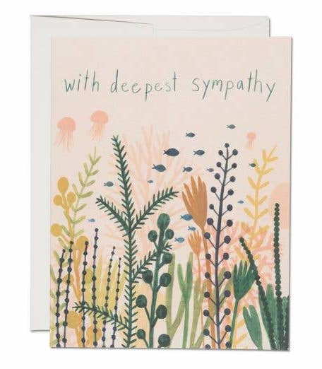 Deep Sea Sympathy Note Card