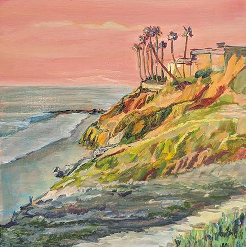 Pacific Coast Bluffs Art Print
