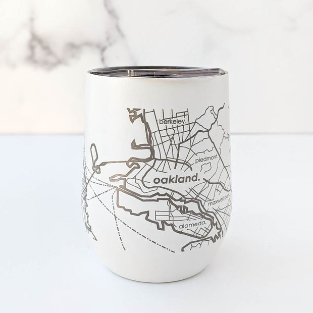 Map of the San Francisco Bay Area Insulated Wine Tumbler