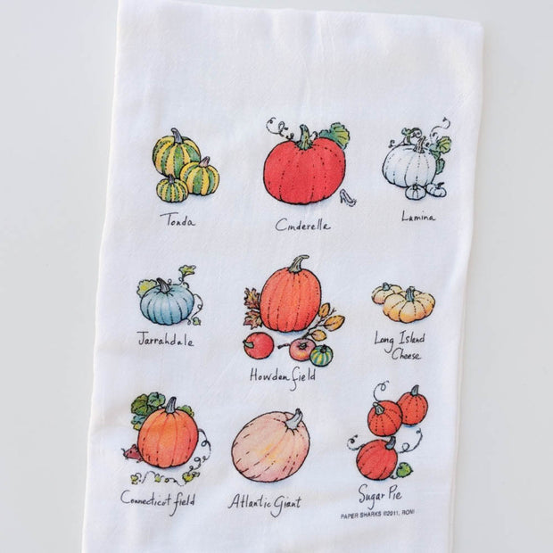 Harvest Pumpkins Flour Sack Towel