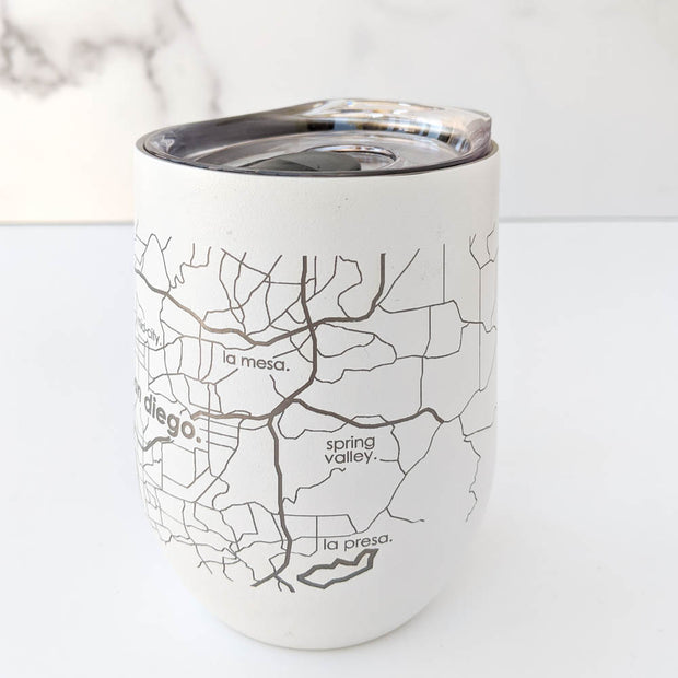 Map of the San Diego Insulated Wine Tumbler
